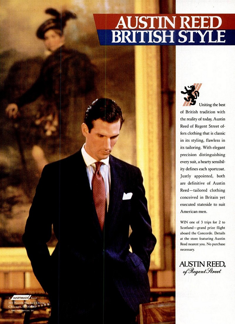 Austin Reed 1985 Fall Winter Database Blog About Classic And Stylish Male Imagery