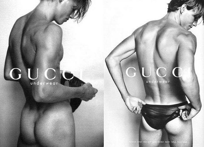 gucci naked male model